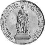 Taler Geschichtsdoppeltaler Ludwig I 1843  Vorzüglich