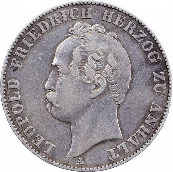 Vereinstaler Anhalt-Dessau Herzog Leopold Friedrich 1858