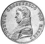 Taler Kronentaler Ludwig I. 1819  vorzüglich
