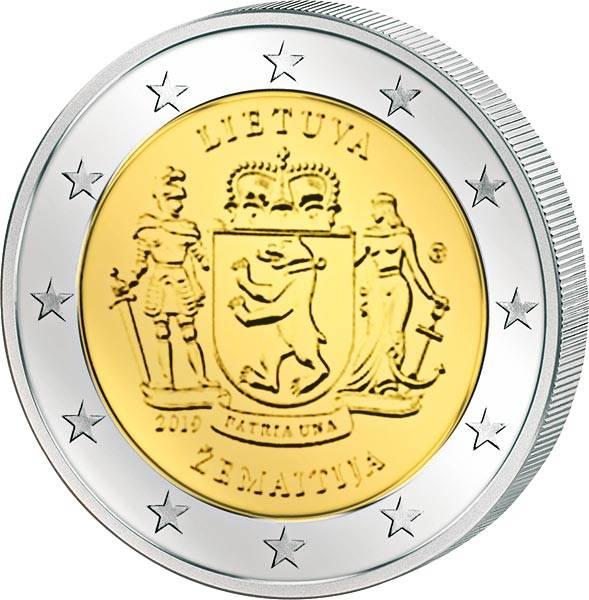 2 Euro Litauen Litauische ethnographische Regionen Zemaitija 2019