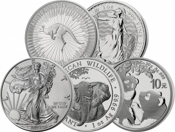 Silber Bullion Investment Set 2021