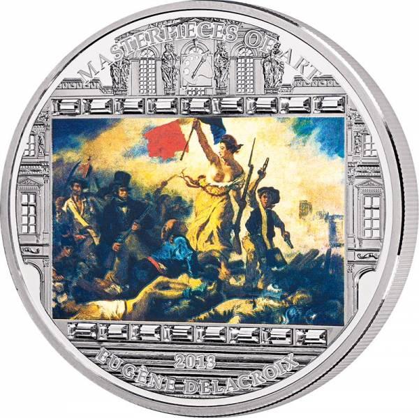 10 Dollars Cook-Inseln Delacroix - Freiheit führt das Volk 2013 - FOTOMUSTER