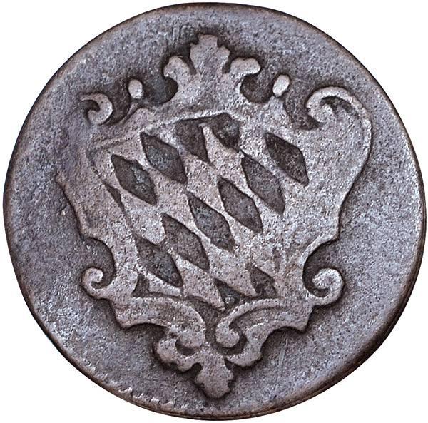1 Pfennig Bayern Kurfürst Maximilian IV.