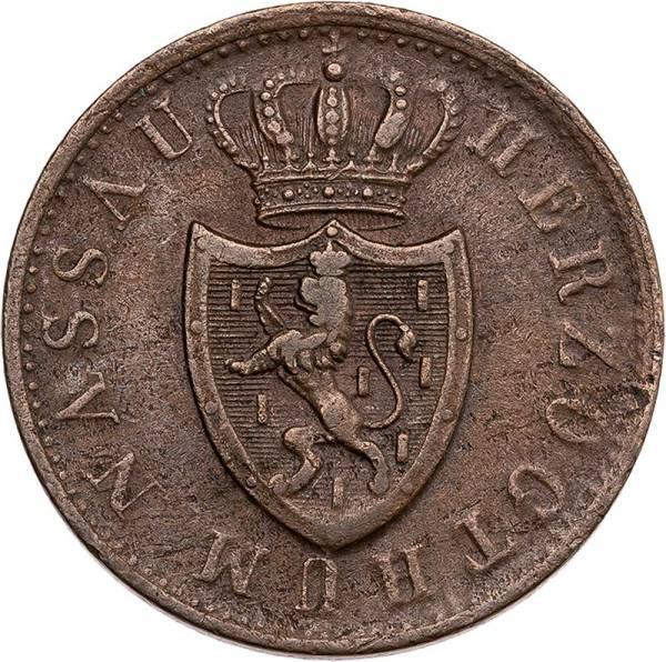 1 Kreuzer Nassau Herzog Adolf 1842-1856