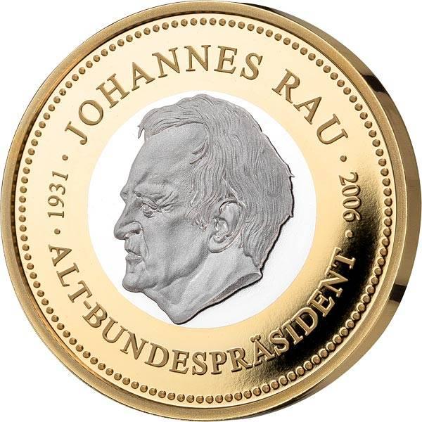 Gedenkprägung Johannes Rau