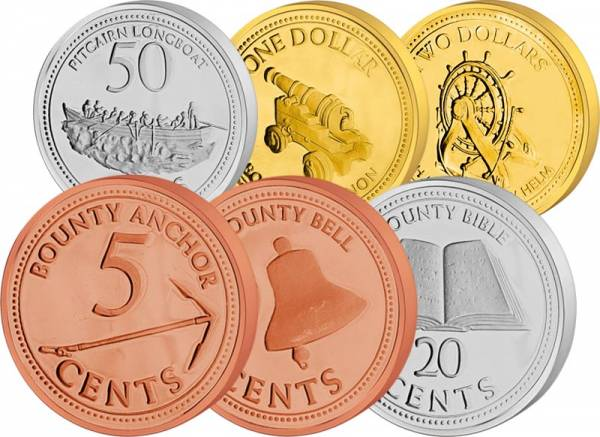 5 Cents - 2 Dollars Pitcairn-Inseln 2009-2010