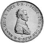 Konventionstaler Reuß-Obergreiz Heinrich XIII. 1806-07 ss-vz