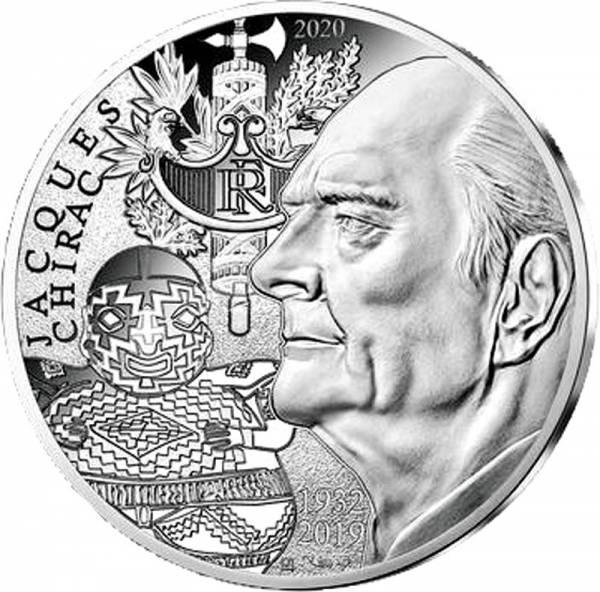 10 Euro Frankreich Jaques Chirac 2020