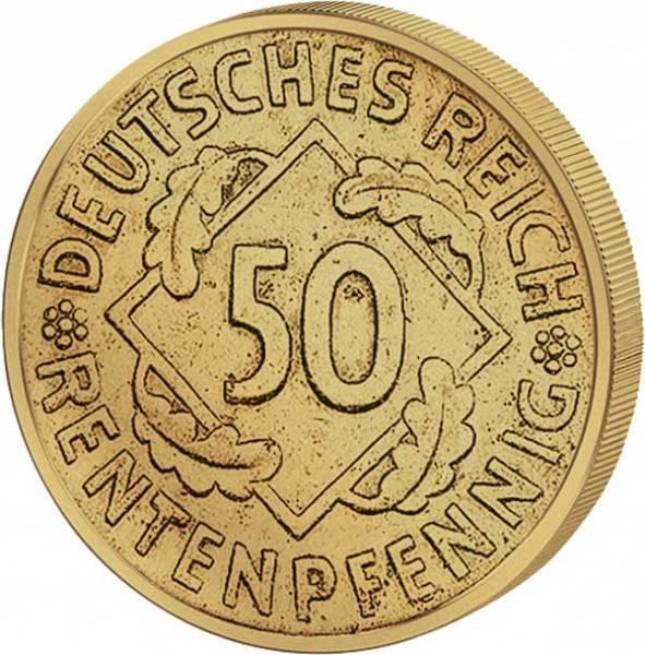 50 Pfennig Weimarer Republik Ähren 1923-1924 Sehr schön