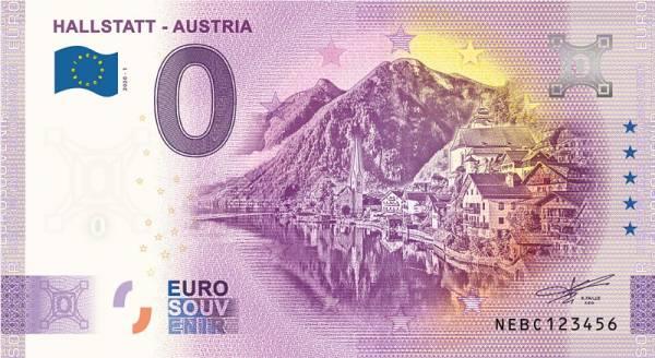 0-Euro-Banknote Österreich Hallstatt 2020