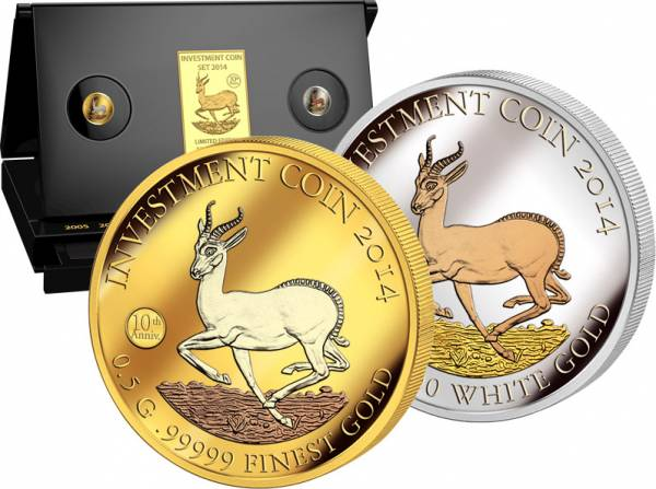 Investment Coin-Set Springbock 2014   Prooflike