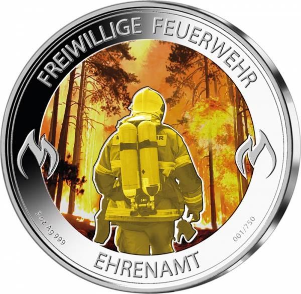 3 Unzen Silber Gedenkprägung Freiwillige Feuerwehr