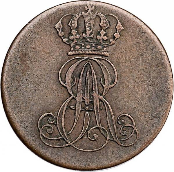 1 Pfennig Hannover König Ernst August 1837-1846