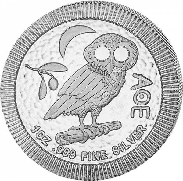 1 Unze Silber Niue Eule von Athen 2020