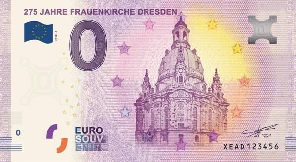 0-Euro-Banknote 275 Jahre Frauenkirche 2018