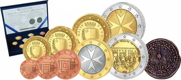 Euro-Kursmünzensatz Malta 2012 inklusive historischer Replik 2012