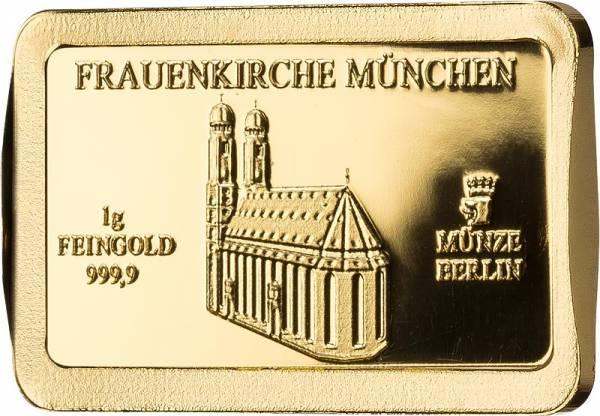 1 Gramm Goldbarren Deutsche Wahrzeichen Frauenkirche München