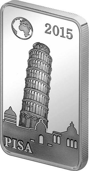 2 Dollars Salomonen Berühmte Wahrzeichen Pisa Schiefer Turm 2015