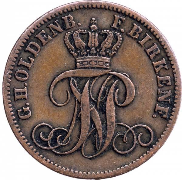 3 Pfennig Oldenburg Großherzog Nikolaus Friedrich Peter 1858