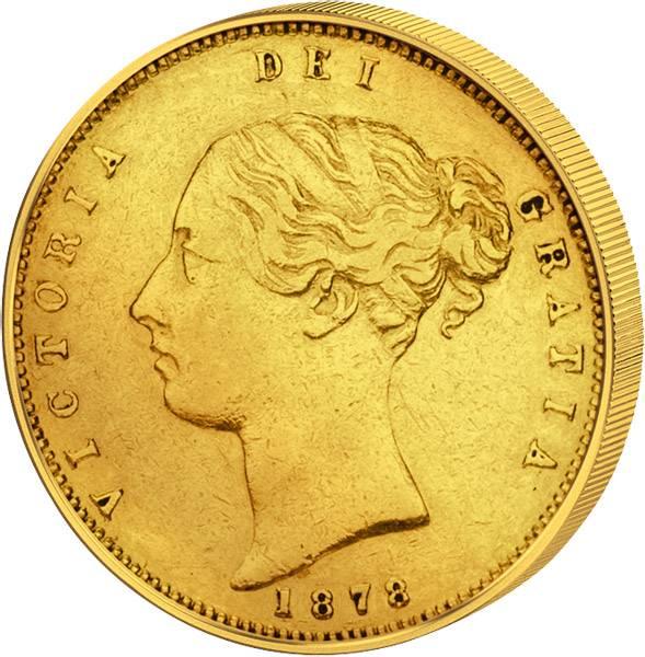 1/2 Sovereign Großbritannien Königin Victoria 1838-1885 Sehr schön