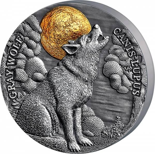 5 Dollars Niue Wolf 2020