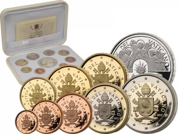 Euro-Kursmünzensatz Vatikan 2017 PP inkl. Briefmarke