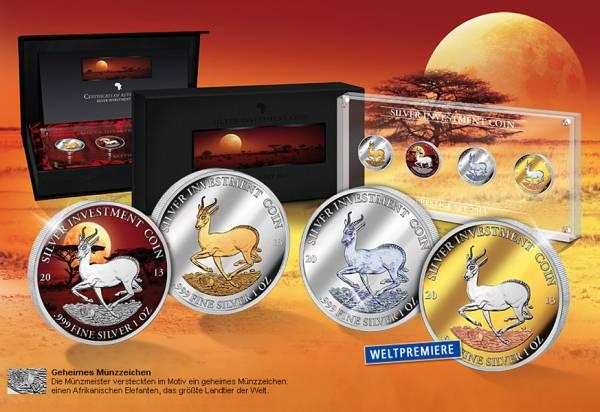 Silver Investment Coin Prestige-Set Springbock 2013 - FOTOMUSTER