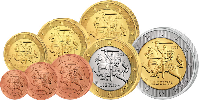 Euro Kursmünzensatz Litauen 2015 Litauen Europäische Münzen