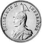 1/2 Rupie Silber Deutsch Ostafrika Wilhelm II. 1891-1901 Sehr schön