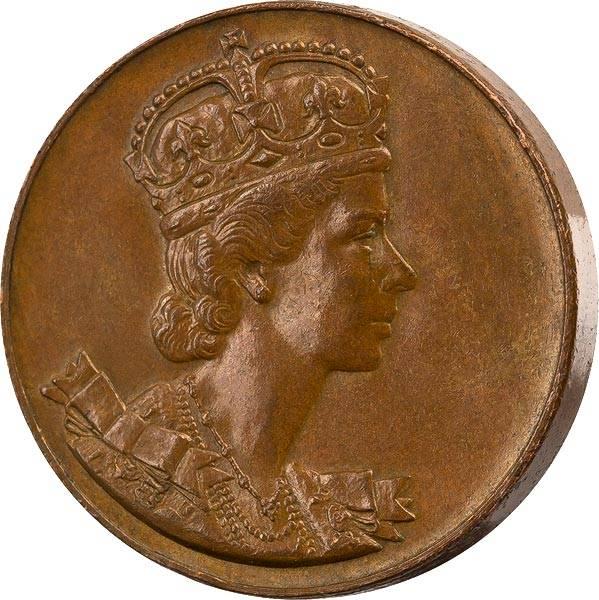 1 Token Kanada Bronzemedaille Krönung Königin Elisabeth II. 1953