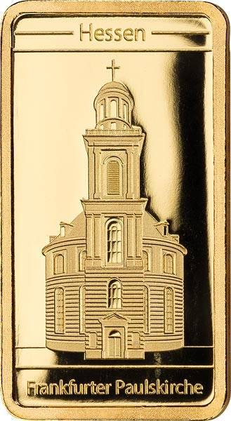 0,5 Gramm Goldbarren Frankfurter Paulskirche