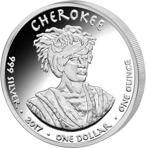 1 Dollar USA Native State Dollar Cherokee Otter Georgia 2017