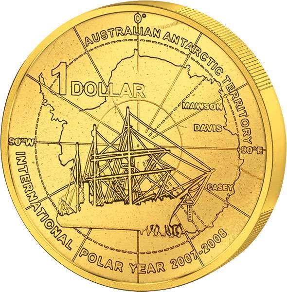 1 Dollar Australien Internationales Polarjahr 2007 Stempelglanz