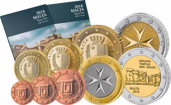 Euro-Kursmünzensatz Malta inklusive 2-Euro-Gedenkmünze 2018