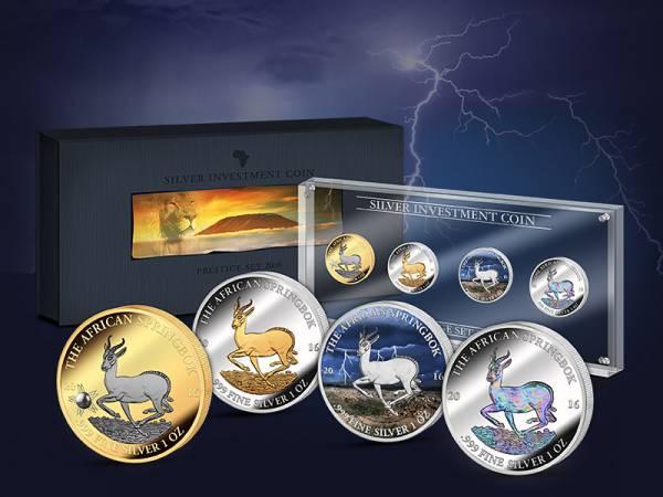 Silver Investment Coin Prestige-Set Springbock 2016