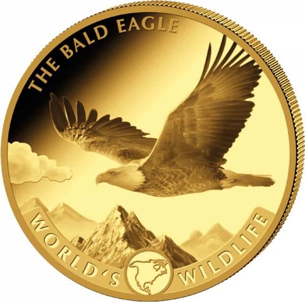 1 Unze Gold Kongo Weißkopfseeadler 2021